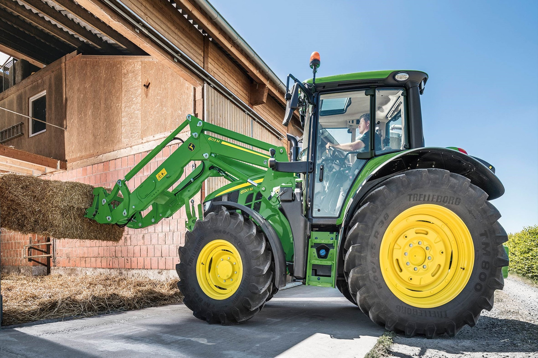 6M Series tractors go stepless