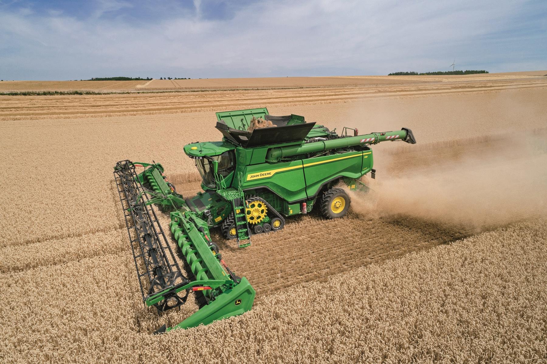 John Deere brings high-capacity X-Series combines to Europe