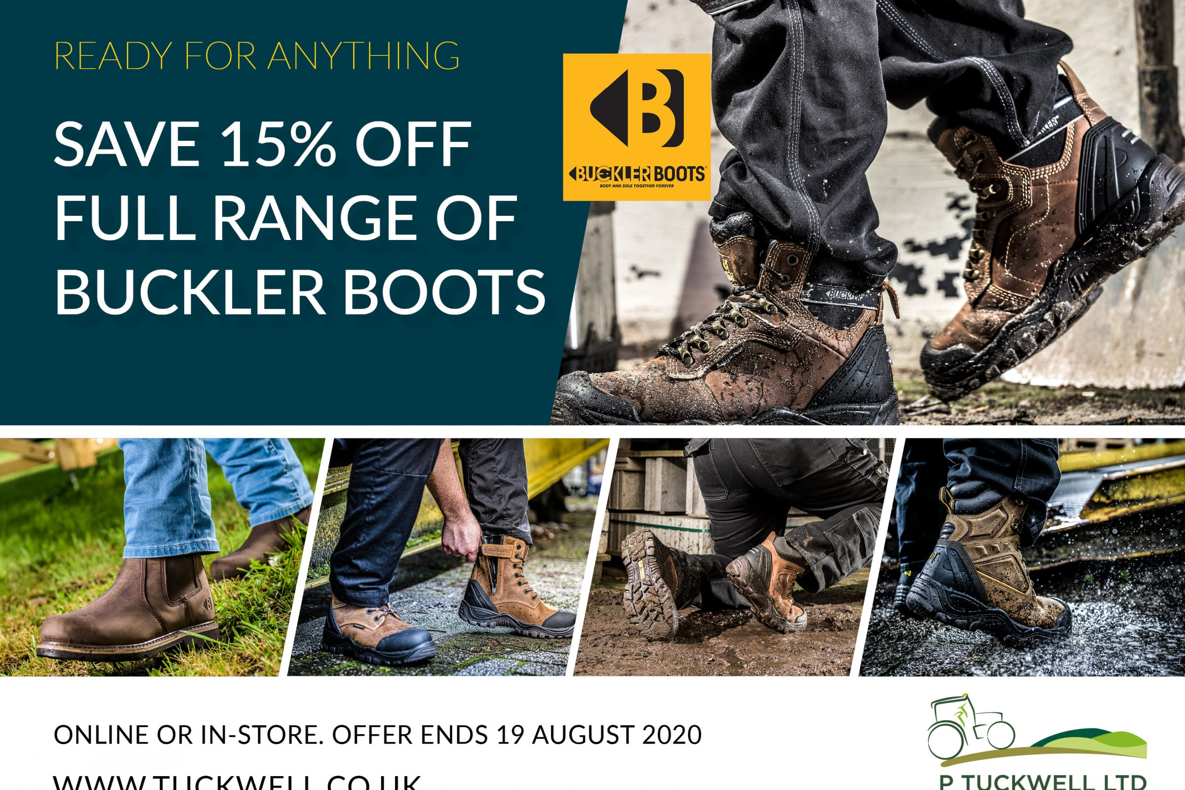 SAVE 15% on full range of Buckler Boots