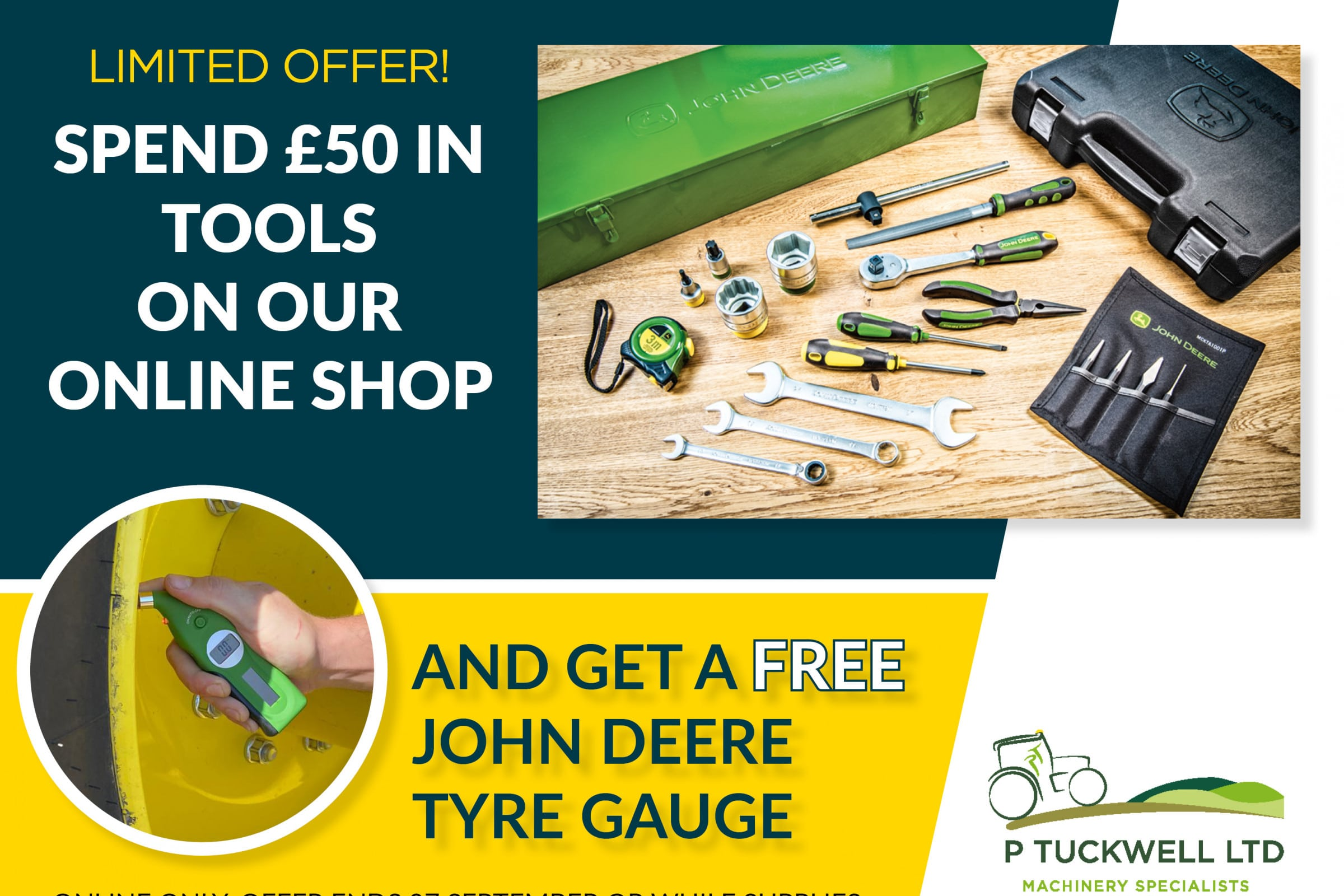 Spend £50 in tools on our online shop and get a free gift!