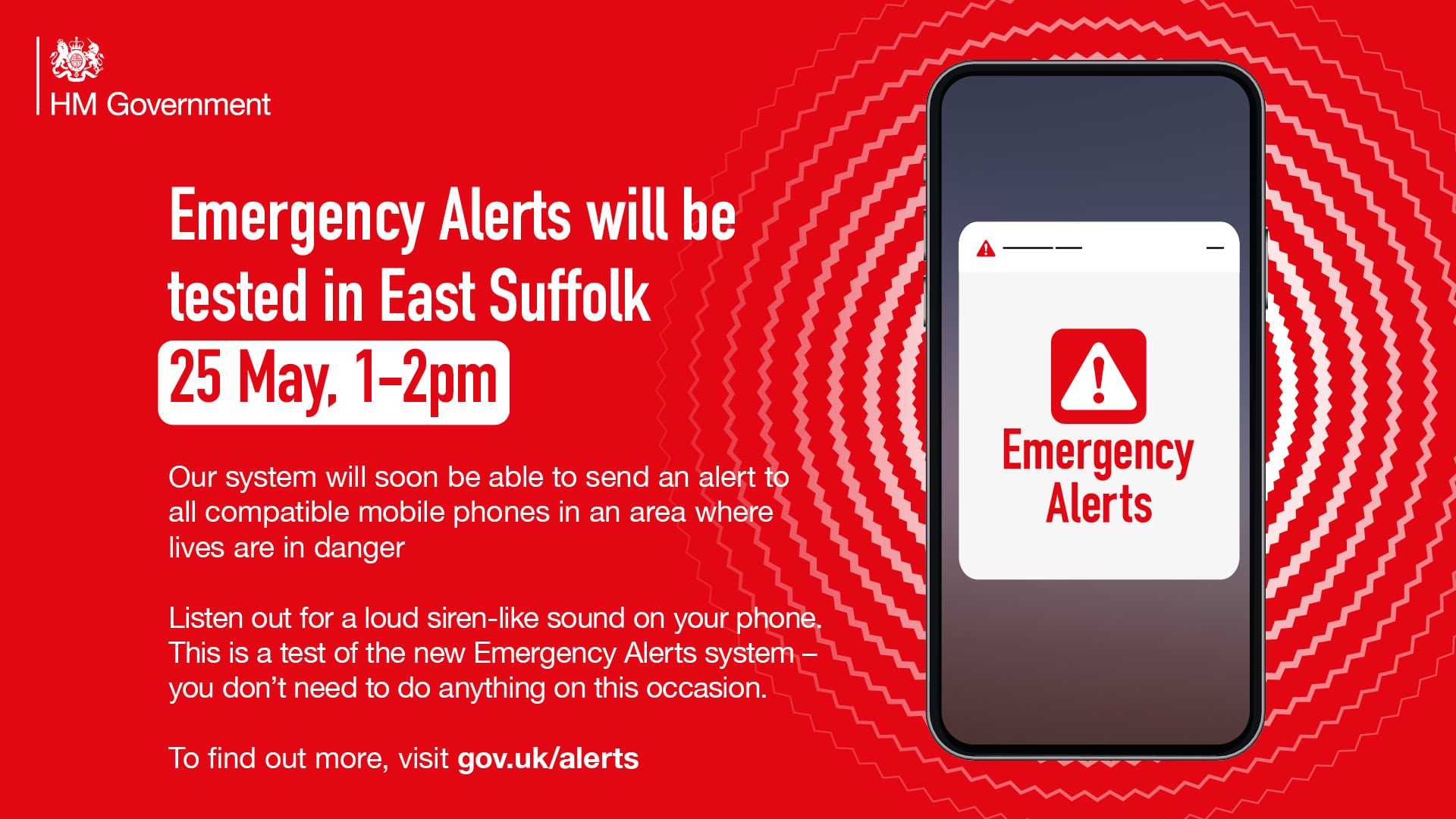 Emergency Alert SMS Trial in East Suffolk